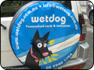Wet dog Tire Cover